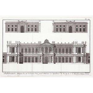 Framed Print on Rag Paper: Elevation du Grand Hotel de Paris