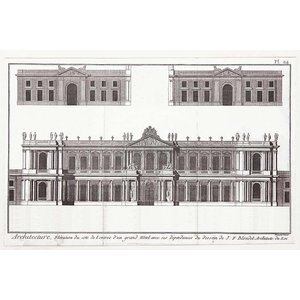 The Picturalist Framed Print on Rag Paper: Elevation du Grand Hotel de Paris