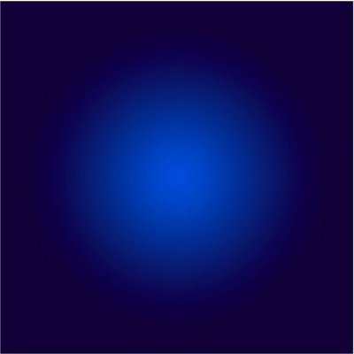 The Picturalist Facemount Acrylic: Cobalt Blue Halo by Alejandro Franseschini