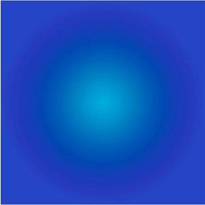 Framed Facemount Acrylic Cerulean Blue Halo