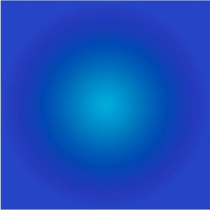 The Picturalist Framed Facemount Acrylic: Cerulean Blue Halo