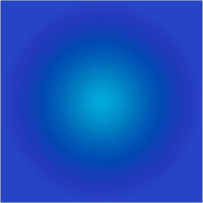 The Picturalist Framed Facemount Acrylic: Cerulean Blue Halo by Alejandro Franseschini