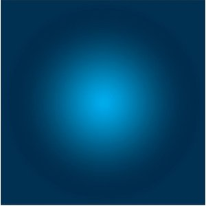 The Picturalist Framed Facemount Acrylic: Prussian Blue Halo