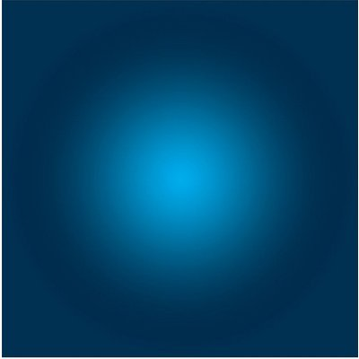 Facemount Acrylic: Prussian Blue Halo by Alejandro Franseschini