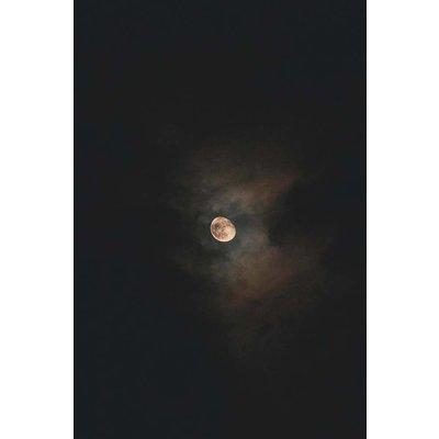 Framed Print on Rag Paper: Harvest Moon by I. Cohen
