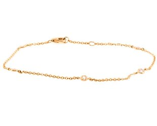Liven Delicate Diamond Rose Gold Chain Bracelet LN37