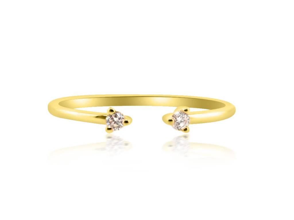 Liven Petite Open Diamond Gold Ring