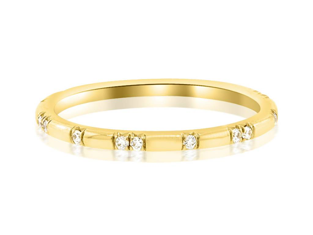 Trabert Goldsmiths Ursa Minor Scattered Diamond Gold Ring