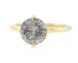 Trabert Goldsmiths 2.51ct Salt and Pepper Diamond Aura Ring E1758