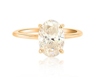 Trabert Goldsmiths 3.20ct Oval Moissanite Aura Ring E1766