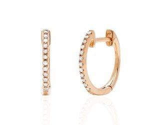 Dilamani Small Rose Gold Diamond Hoop Earrings DL18