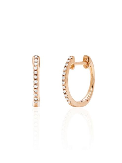 Dilamani Small Rose Gold Diamond Hoop Earrings
