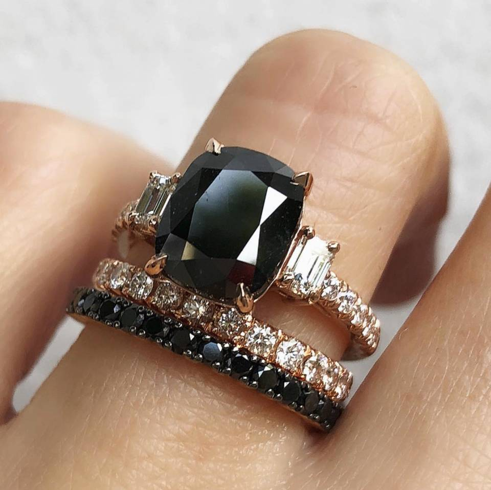 17 Black Engagement Rings For Brides Who Make Their Own Rules