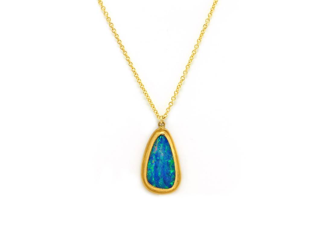 Trabert Goldsmiths Asymmetrical Opal Necklace