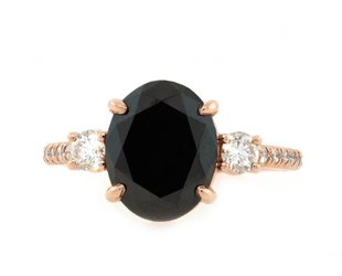 Trabert Goldsmiths 3.44ct Dark Star Black Diamond Ring E1777