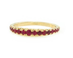 Trabert Goldsmiths Gradutated Ruby Band E1775