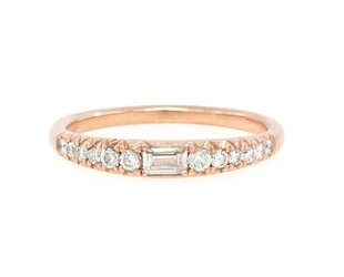 Trabert Goldsmiths Graduated Pave and Baguette Diamond Band E1774