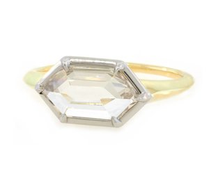 Trabert Goldsmiths 1.10ct Hexagonal Diamond Stella Ring E1784