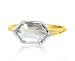 Trabert Goldsmiths 1.10ct Hexagonal Diamond Stella Ring E1784