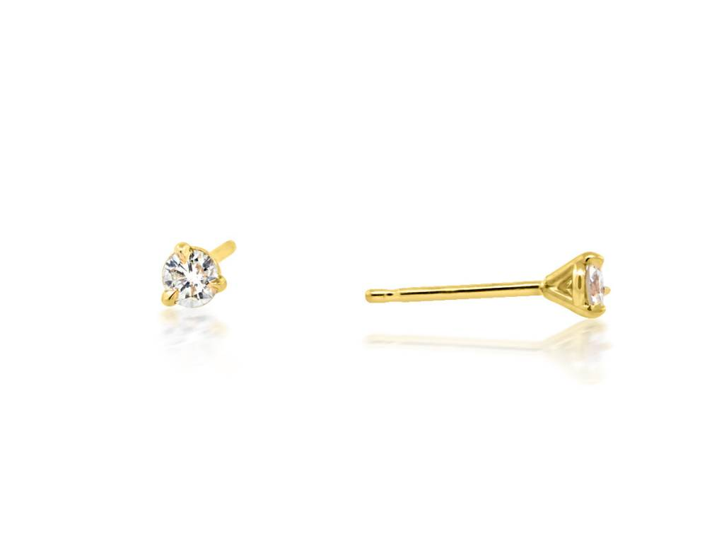 Trabert Goldsmiths 0.20ct twt HVS Diamond Gold Stud Earrings