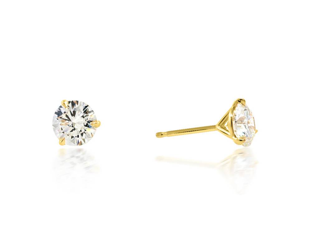 Trabert Goldsmiths 1.80ct twt GSI1 Diamond Stud Earrings