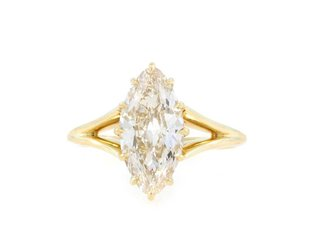 Trabert Goldsmiths 2.02ct LVS2 Moval Diamond Orion Ring E1794