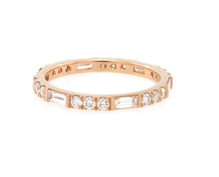 Trabert Goldsmiths Horizon Line Diamond Rose Gold Band E1834