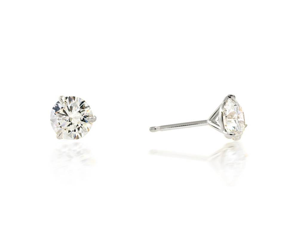Trabert Goldsmiths 2 17cts Diamond Stud Earrings