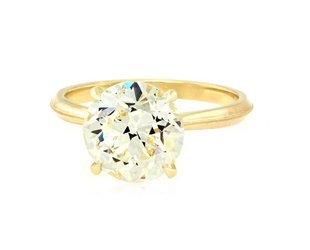 Erika Winters 3.60ct O/PVS1 Old Euro Dia 'Lena' Ring EW20