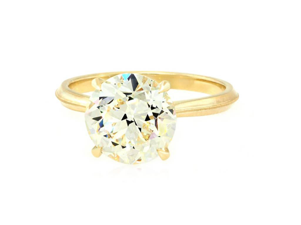 Erika Winters 3.60ct O/PVS1 Old Euro Dia 'Lena' Ring
