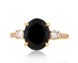 Trabert Goldsmiths 3.30ct Black Diamond Dark Star Ring E1837