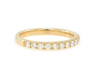 Beverley K Collection 0.46ct twt Pave Diamond Gold Half Band AB481