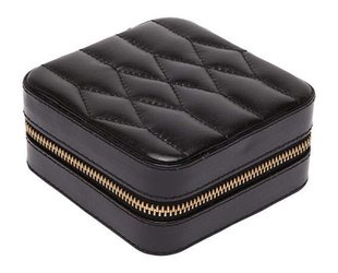 Small Quilted Leather Jewelry Box E4000