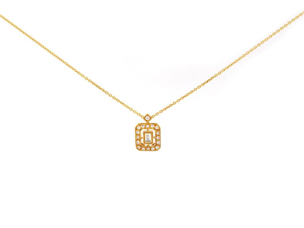 Beverley K Collection Diamond Baguette Pave Pendant