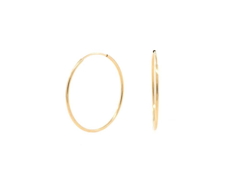 Trabert Goldsmiths Yellow Gold Hoop Earrings