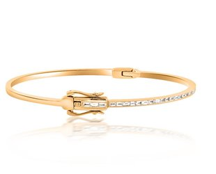 Beverley K Collection Baguette Diamond Rose Gold Bangle AB476
