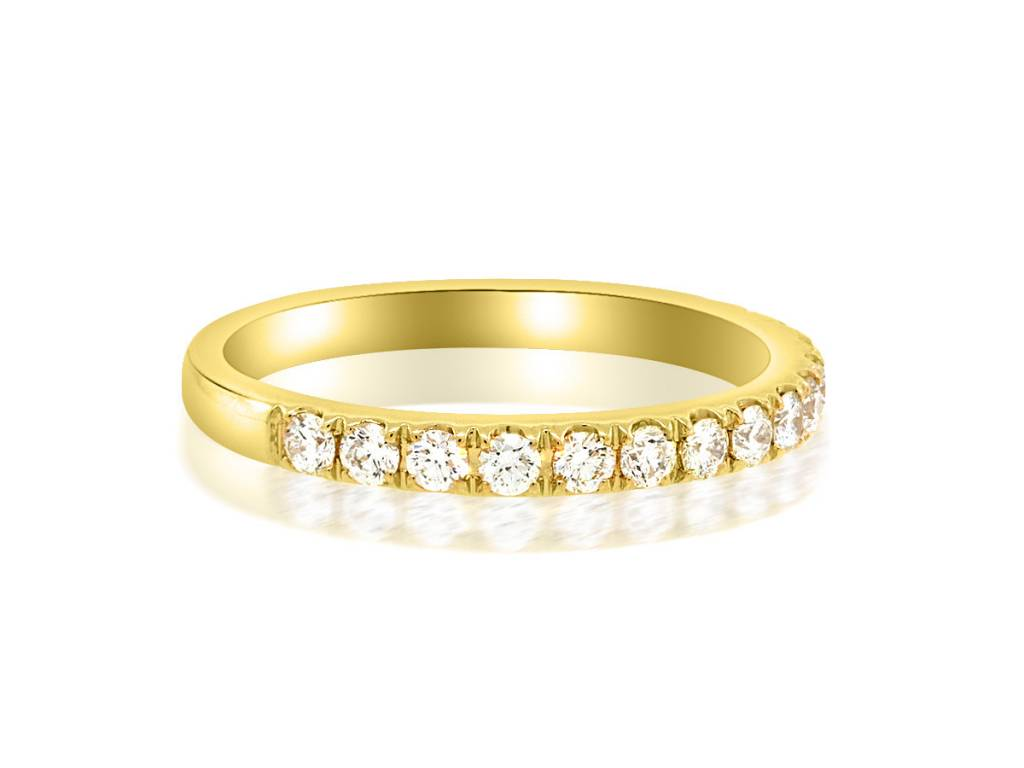 Beverley K Collection 0.46ct twt Pave Diamond Gold Half Band