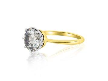 Trabert Goldsmiths 1.72cts Fancy Grey Diamond Ring E1822