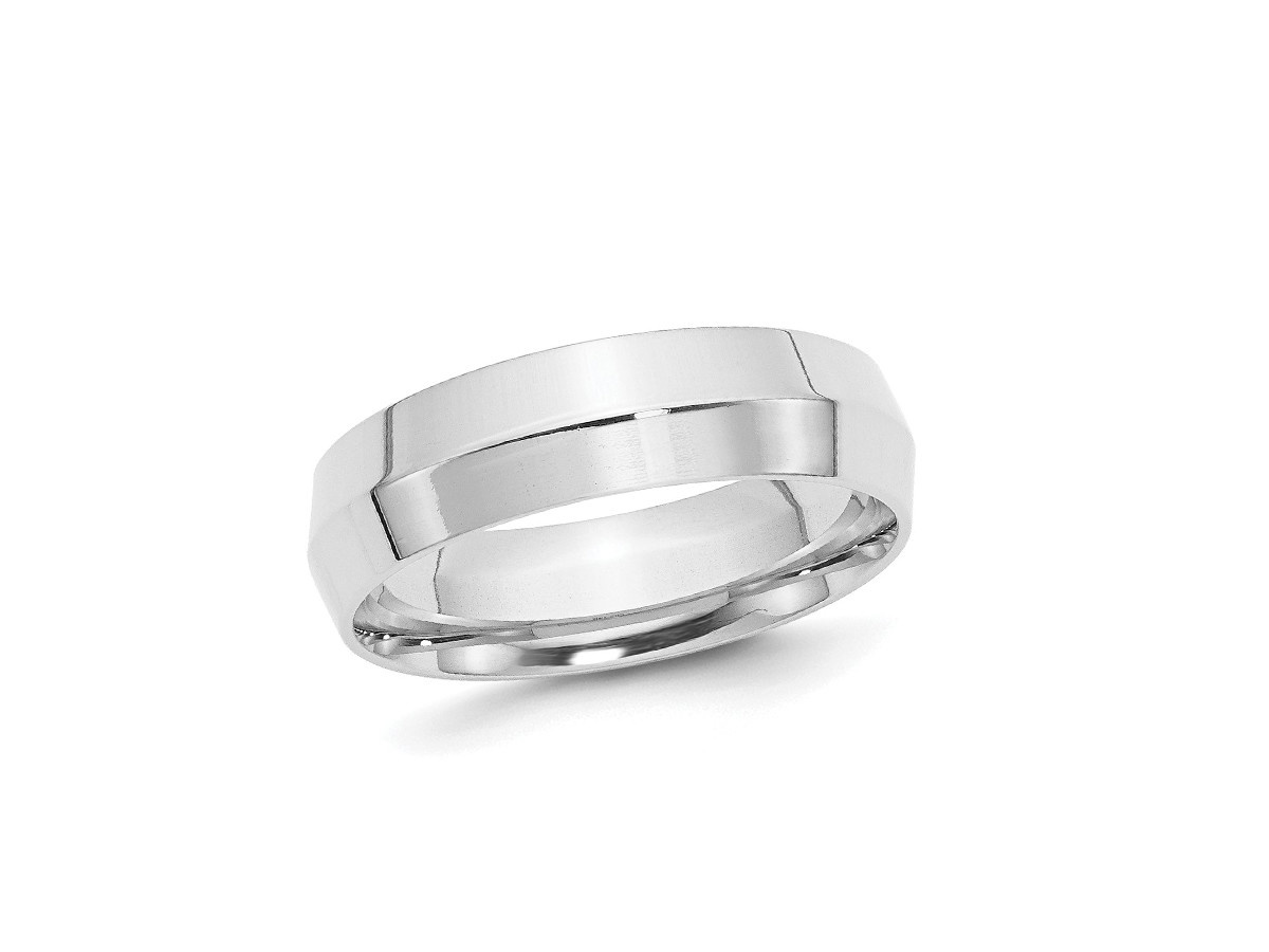 Trabert Goldsmiths 6mm Platinum Knife Edge Men's Ring