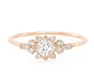 Melanie Casey Stargaze Diamond Cluster Rose Gold Ring ME37