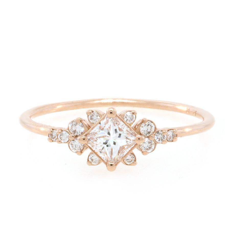 Melanie Casey Stargaze Diamond Cluster Rose Gold Ring