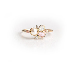 Melanie Casey Pearl Sands Cluster Ring ME40