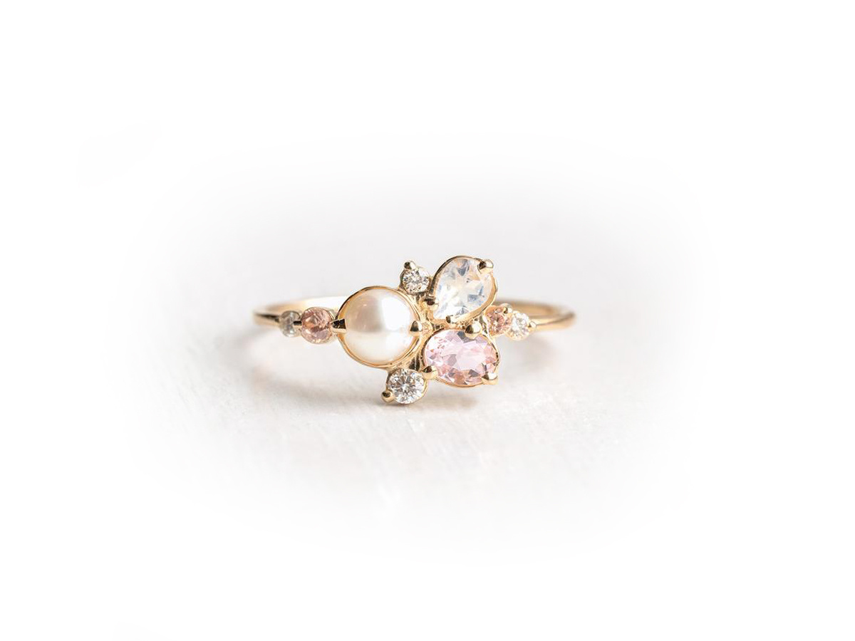 Melanie Casey Pearl Sands Cluster Ring