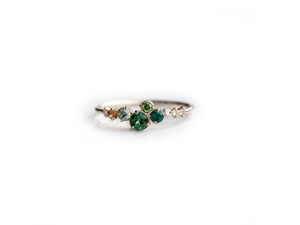 Melanie Casey Trellis in Giverny White Gold Ring