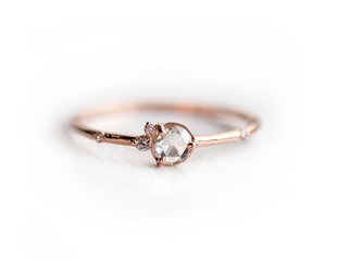 Melanie Casey Flurry Rose Cut Cluster Rose Gold Ring ME54