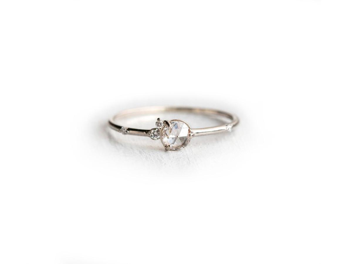 Melanie Casey Flurry Diamond Cluster White Gold Ring