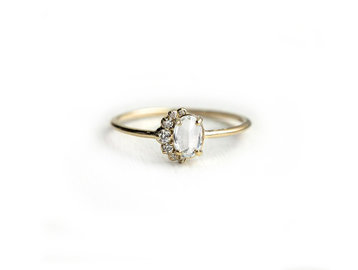 Melanie Casey White Sapphire Astra Ring ME57