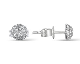 Luvente Small Pave Diamond Dome Stud Earrings LV91