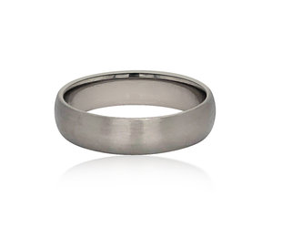 Trabert Goldsmiths 5mm Palladium 14k Grey Gold Band E1877