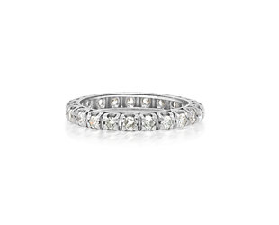 Trabert Goldsmiths Antique Diamond Eternity Band E1879